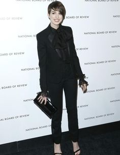 Look of The Daily: Anne Hathaway in Saint Laurent #Fashion #Style