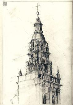 Sketchbook Camino de Santiago by Simon Prades, via Behance
