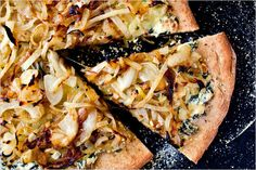 Onion Pizza With Ricotta and Chard