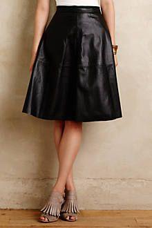 Asterine Leather Skirt