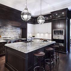 Hush Homes - Oakville Model Home - contemporary - kitchen - toronto - by Avissa Mojtahedi Architecture & Design Kitchen Cupboard Designs, Ikea Kitchen Design, New Kitchen Designs, Modern Kitchen Design, Kitchen Shelves, Kitchen Colors, Walnut Kitchen, Kitchen Floor Plans, Kitchen Models
