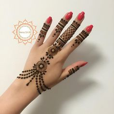 Very Simple Henna Hand Tattoos . Very Simple Henna Hand Tattoos . New Bridal Mehndi Designs, Mehndi Designs For Fingers, Henna Designs Easy, Beautiful Henna Designs, Best Mehndi Designs, Bridal Henna, Finger Henna Designs, Henna Tattoos, Henna Tattoo Hand