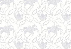 Diseño de formas vegetales en este papel pintado de la colección Emotion de Grandeco.