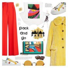 """Pack and Go: Paris Fashion Week"" by ames-ym ❤ liked on Polyvore featuring Roland Mouret, Prada, Hakusan, Balenciaga, Chanel, Shrimps, parisfashionweek and Packandgo"