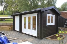 Black Combi Cabin & Shed