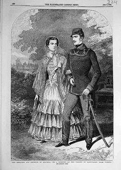1855 Franz Joseph and Sissi