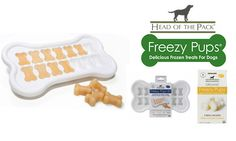 Make it yourself - Freezy Pups  Glad they are in bone shapes or someone looking for a midnight snack might eat them.