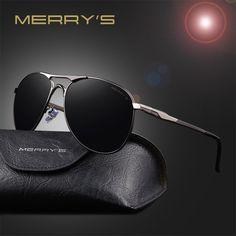 MERRY'S Aluminum Mens Polarized Mirror Sun Glasses Classic Brand Designer Sunglasses Men Driving Eyewear Pilot Sunglasses S'8712