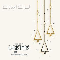 Η DIMOU DESIGN σας εύχεται Χρόνια πολλά, Καλές γιορτές, ευτυχισμένος και δημιουργικός ο καινούργιος χρόνος.  DIMOU DESIGN wishes you Happy Holidays, Happy and Creative new year. Merry Christmas And Happy New Year, News Update, Wardrobes, Chart, Closets, Cabinets, Closet