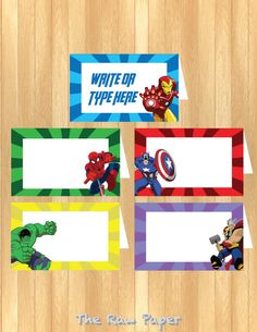 INSTANT DOWNLOAD EDITABLE The Avengers Food Tent by TheRawPaper