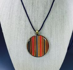Resin Pendant Colored Pencils Pendant Handmade by AATurning