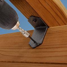 Outdoor Accents Connector Screw Installation with Outdoor Kitchen Patio, Indoor Outdoor Living, Outdoor Rooms, Wooden Swings, Wooden Pergola, Outdoor Pergola, Pergola Plans, Backyard Pavilion, Backyard Fences