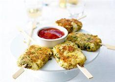 Mozzarellalolly's' in een korstje van parmezaan en oregano (Breaded Mozzarella with Parmesan and Oregano)