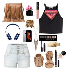 """""""What I think mylifeaseva would where."""" by emiliacatlover ❤ liked on Polyvore featuring H&M, LE3NO, Qupid, Beats by Dr. Dre, Jules Smith, Forever 21, Chanel, NARS Cosmetics, Marc Jacobs and Yves Saint Laurent"""