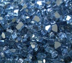 "Fireglass Fireplace Fire Pit Glass, ~1/4"" Pacific Blue Reflective , 5 LBS"