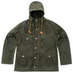 Monitaly Waxed Cotton Mountain Parka