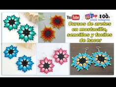 Beautiful earrings in mostacilla, FREE course! simple and easy to do 🌷🌺🌼🌻😍😍 Beaded Bracelets Tutorial, Earring Tutorial, Seed Bead Bracelets, Seed Bead Jewelry, Seed Bead Earrings, Bead Crochet Patterns, Beading Patterns, Beading Projects, Beading Tutorials