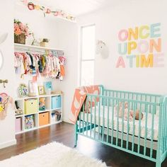 Pretty and modern pastel nursery design Nursery by Baby girl nursery ideas. Nursery Themes, Nursery Room, Girl Nursery, Nursery Decor, Nursery Ideas, Nursery Storage, Nursery Organization, Nursery Furniture, Closet Organization