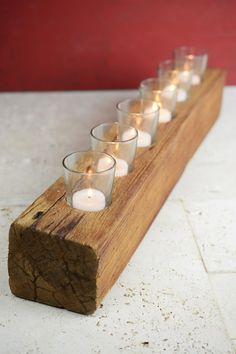 This is perfect for a candle centerpiece for a wedding or just at home! Great for a rustic wedding or a barn house look