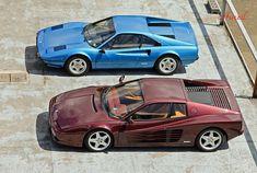 Ferrari battle: 308 vs 512tr http://www.windblox.com/ #windscreen #ferrari #testorossa