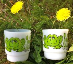 Frog Fire King Mugs Stackable Set of Two by WolfCityAnteeks, $22.00