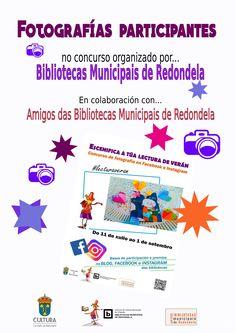 """Exposición fotografías participantes no concurso """"Escenifica a túa lectura"""" Outubro 2016 http://bibliotecasredondela.blogspot.com.es/2016/10/as-fotos-do-noso-concurso-escenifica.html"""