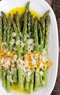 Warm Roasted Asparagus Salad with Orange Dressing