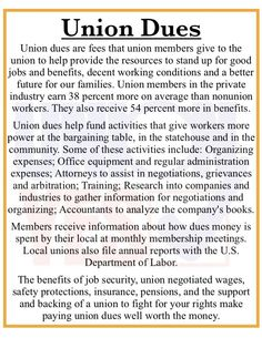 We all pay dues, to our union or to our employer in lower wages. Union Dues, Workers Rights, Workers Union, Collective Bargaining, Labor Law, Labor Union, Political Quotes, Knowledge And Wisdom, Union Made