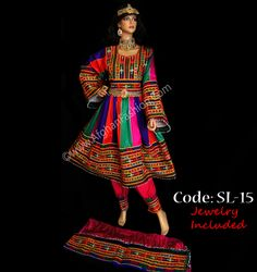 Afghan traditional clothes and jewelry. To purchase visit www.AfghanFashion... . Worldwide shipping