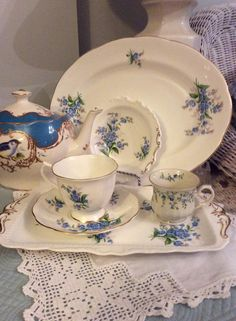 Forget me not by Royal Albert│Victorian Tea Time