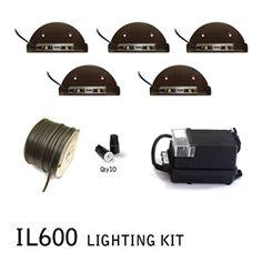 IL600 LED Retro Integral Wall & Step Lighting Kit Landscape Lighting Kits, Wall Lighting, Lamp Design, Led Lamp, Light Colors, Yard, Retro, Light Bulb Drawing, Patio