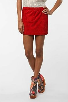 Urban Renewal Pull-On Suede Mini Skirt - Urban Outfitters