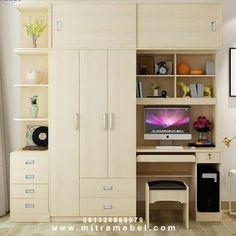 Wardrobe Design Bedroom, Bedroom Decor, Teen Bedroom, Tall Cabinet Storage, Storage Cabinets, Study Table Designs, Dressing Table Design, Cupboard Design, Home Office Decor