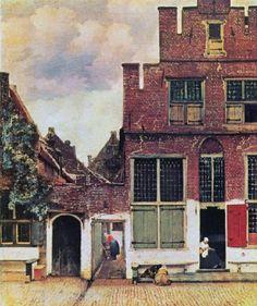 "Johannes Vermeer ""The Little street"", 1657-1658, Oil on canvas, 54.3 cm × 44 cm, in Rijksmuseum, Amsterdam"