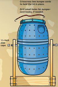 How to make a tumbler compost bin