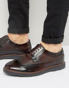 Silver Street Soho Brogues In Bordo Leather ASOS is part of Dress shoes men - Browse online for the newest Silver Street Soho Brogues In Bordo Leather styles Shop easier with ASOS' multiple payments and return options (Ts&Cs apply) Oxfords Vs Brogues, Brogues Outfit, Mens Fashion Shoes, Leather Fashion, Shoes Men, 1950 Shoes, Groom Shoes, Brown Sneakers, Formal Shoes