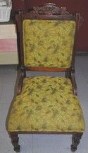 Green Upholstered Eastlake Sitting Chair