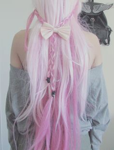 #cabelo #colorido #rosa #trança