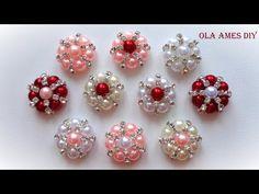 Канзаши/ Серединки для канзаши своими руками Мастер Класс/ Kanzashi Flower tutorial/ Ola ameS DIY - YouTube
