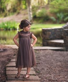 Take a look at this Trish Scully Child Chocolate Allessandra Dress - Infant, Toddler & Girls today! Toddler Dress, Toddler Outfits, Infant Toddler, Toddler Girls, Infant Girls, Boys, Baby Girls, Baby Boy, Girls Lace Dress