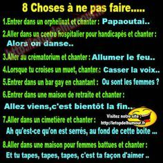 8 choses ne pas faire.