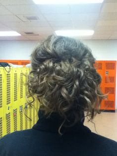 the back.. loose curly up-do  [by me]
