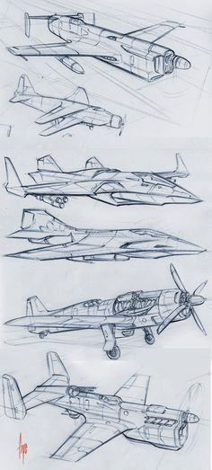 Velocity in 2D: Planes and Jets sketches