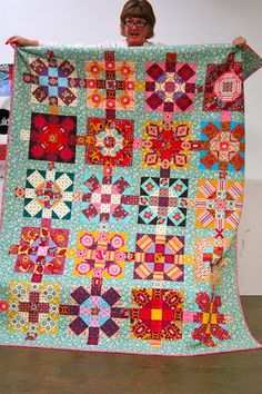 I love the Moroccan-inspired colors used here! Gorgeous quilt by Cherri of the Portland Modern Quilt Guild.