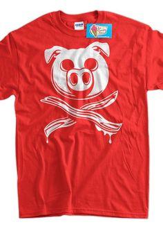 Funny Bacon T-Shirt - Pig Bacon Crossbones shirt tee pork pig meat candy  mens ladies youth 3e3691e7b220