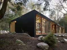 MacLennan Jaunkalns Miller Architects have designed the Clear Lake Cottage in Parry Sound, Ontario, Canada.