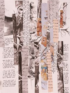 Inspired by Lives and Letters - Carla Sonheim Presents Newspaper Background, Newspaper Collage, Collage Background, Retro Background, Photo Wall Collage, Collage Art, Aesthetic Pastel Wallpaper, Cute Wallpaper Backgrounds, Aesthetic Backgrounds