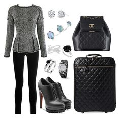 """""""Untitled #1634"""" by cecily-stagrum-buch on Polyvore featuring Chanel, J Brand, Alaïa, Harry Kotlar, Kendra Scott and Effy Jewelry"""