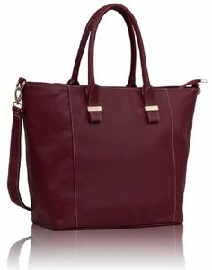 Womens Burgundy Red Tall Tote Bag Designer Style Everyday Handbag KCMODE KCMODE, To BUY or SEE just CLICK on AMAZON right here http://www.amazon.com/dp/B00J72UATI/ref=cm_sw_r_pi_dp_x60stb0896FTFVXE