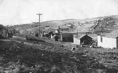 Coal mines in the town of Sublet, Wyoming, shown here in 1908, were plagued by accidents. Wyoming Tales and Trails.